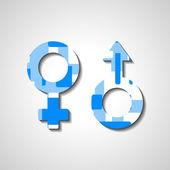 Manliga och kvinnliga kön symboler — Stockvektor