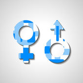 男性和女性的性别符号 — 图库矢量图片