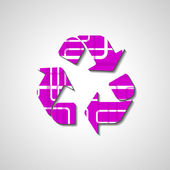 Recycle Symbol, abstract style illustration — Stock Vector