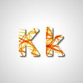 Renkli harf alfabe — Stok Vektör
