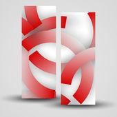Banner vector para su diseñosiluet boks ring kızı işaret tutan — Vector de stock