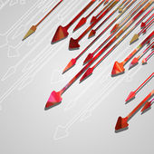 Arrow design background. — Vector de stock