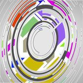 Fondo de círculos abstractos tecnología — Vector de stock