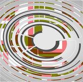 Abstraktní kruhy technolgií — Stock vektor