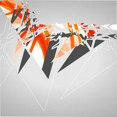 Футуристический фон, геометрическая Иллюстрация. — Cтоковый вектор