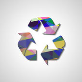 Recycle Symbol, abstract style illustration — Vetorial Stock