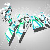 Futuristické pozadí, geometrické obrázku. — Stock vektor