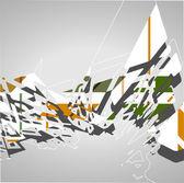 Futuristic background, geometric illustration. — Stock Vector