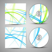 Vector cd cover  set for your design — Stok Vektör