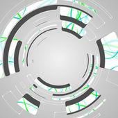 Astratto per design futuristico tech — Vettoriale Stock
