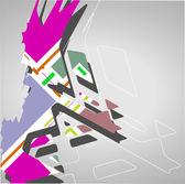 Fondo futurista, ilustración geométrica. — Vector de stock