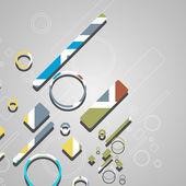 Barevné abstraktní kruhy pozadí — Stock vektor