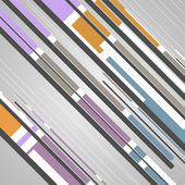 Abstracta geométrica futurista — Vector de stock