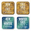 Winter & autumn sale — Stock Vector