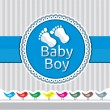 Baby boy arrival announcement card — Stock Vector