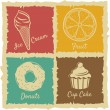 Stock Vector: Desserts icons