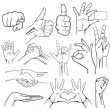Human Hand Sign collection - Stock Vector