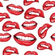 Lips seamless pattern - Vettoriali Stock