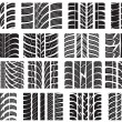 Royalty-Free Stock Vector Image: Set of various tire treads