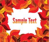 Autumn leaves frame — Stock Vector