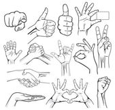 Human Hand Sign collection — Stock Vector