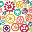 Gear seamless pattern - Stock Vector