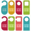 Do not disturb door hanger set - Stock Vector