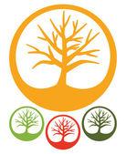 Дерево - простые векторные иконки — Cтоковый вектор