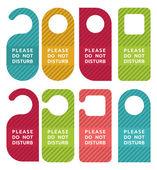 Do not disturb door hanger set — Stock Vector
