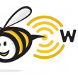 Royalty-Free Stock Vector Image: Bee Wi-Fi icon