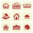 House icons set. Real estate. - Imagen vectorial