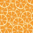 Orange background from slices of juicy oranges — Stock Vector