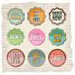 Set of retro badges and stickers — Stock Vector