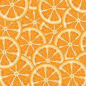 Orange background from slices of juicy oranges — Stock Vector