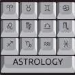 Zodiac astrology signs keyboard button set — Stock Vector #23129586