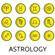 Zodiac button collection - Stock Vector