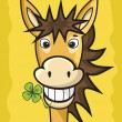 Royalty-Free Stock Vector Image: Donkey with clover