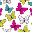 Stock Vector: Seamless butterfly pattern