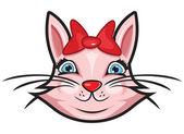 Sevimli kedi — Stok Vektör