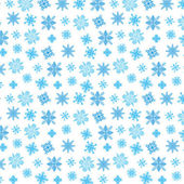 Blue snowflakes on white — Stock Vector