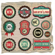 Collection of vintage retro grunge sale labels, badges and icons — Stock Vector
