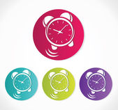 Relógio icon set vector — Vetor de Stock