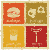 Set of Vintage Food Labels — Stock Vector