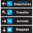 Airport Signs — Stockvectorbeeld