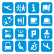 Airport icons - pictogram set — Vettoriali Stock
