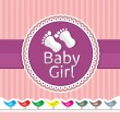 Royalty-Free Stock Vector Image: Baby girl arrival announcement card