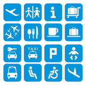 Airport icons - pictogram set — Stock Vector