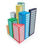 Concepto de ciudad 3d — Vector de stock