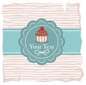 Cute cupcake gift card — Stock Vector