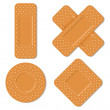 Adhesive bandages — Stock Vector